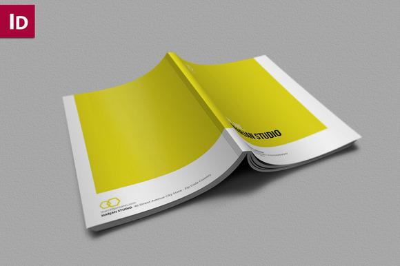 indesign brochure portfolio brochure templates on creative market. Black Bedroom Furniture Sets. Home Design Ideas