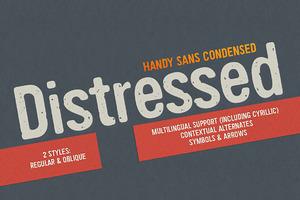 Handy Sans Condensed Distressed