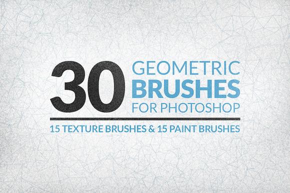 30 Geometric Texture Brushes - Brushes - 1