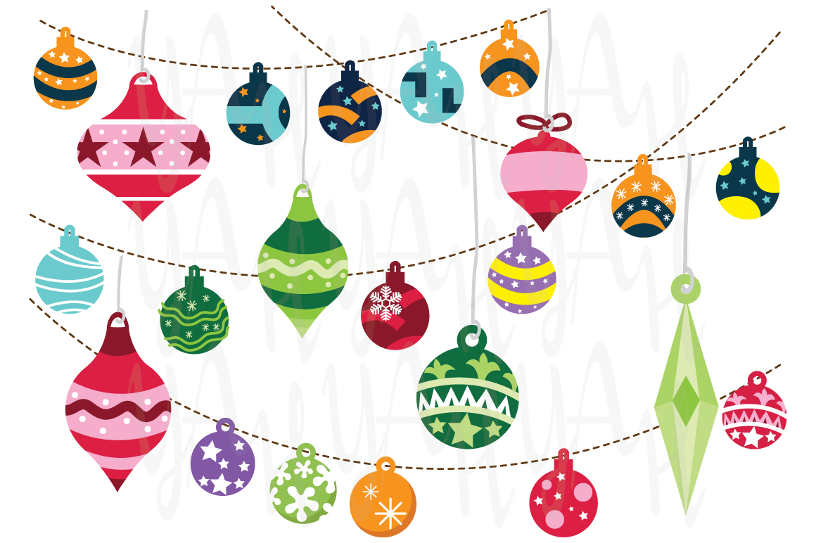 Christmas ornaments illustrations on creative market for How to design a christmas ornament