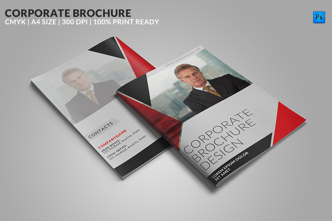 corporate brochure templates - 8 page corporate bifold brochure brochure templates on