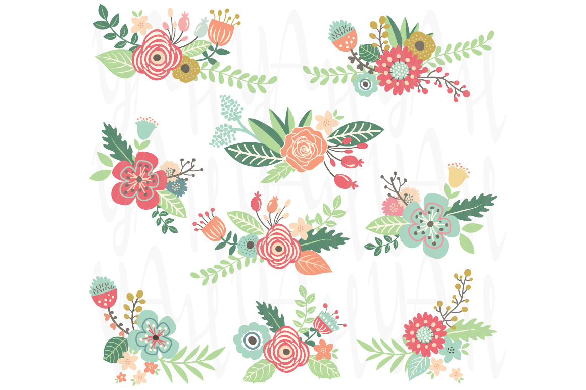 Wedding Flower Clip Art ~ Illustrations on Creative Market
