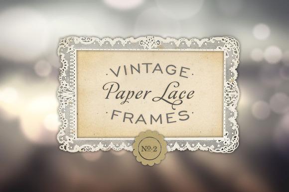 Antique Paper Lace Frames No. 2 - Objects