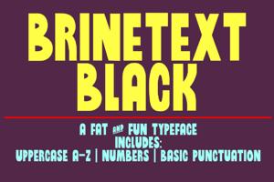 Brinetext Black