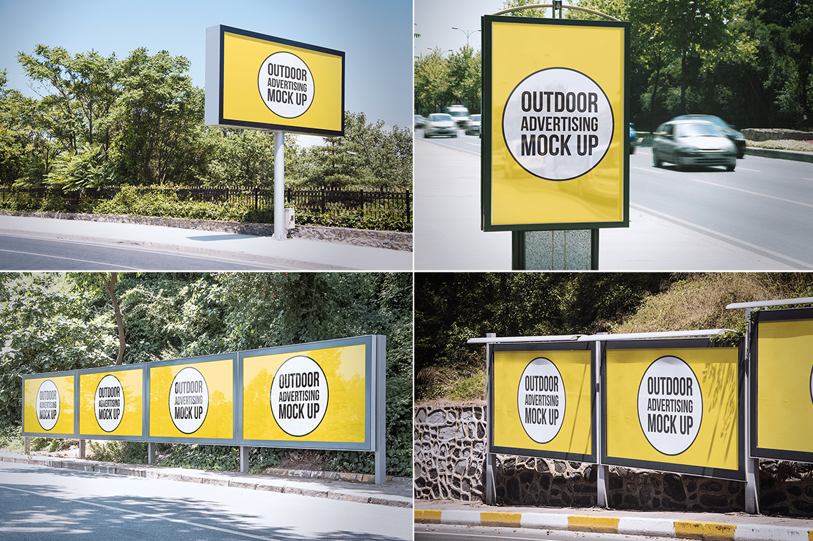 Outdoor Advertising Mock Up Product Mockups On Creative