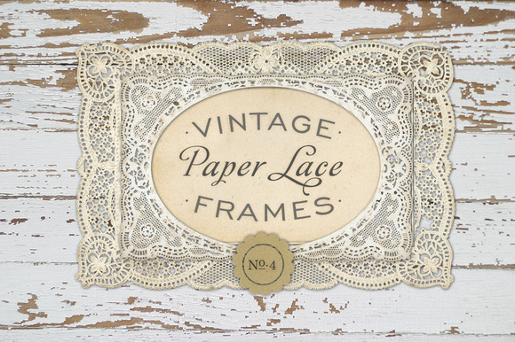Vintage Paper Lace Frames No. 4 - Objects