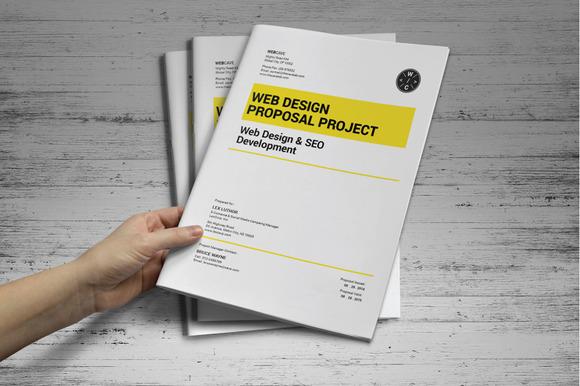 web proposal template stationery templates on creative market. Black Bedroom Furniture Sets. Home Design Ideas