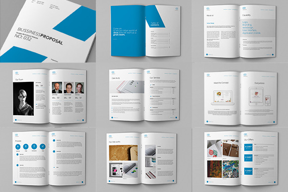 clean proposal brief template brochure templates on creative