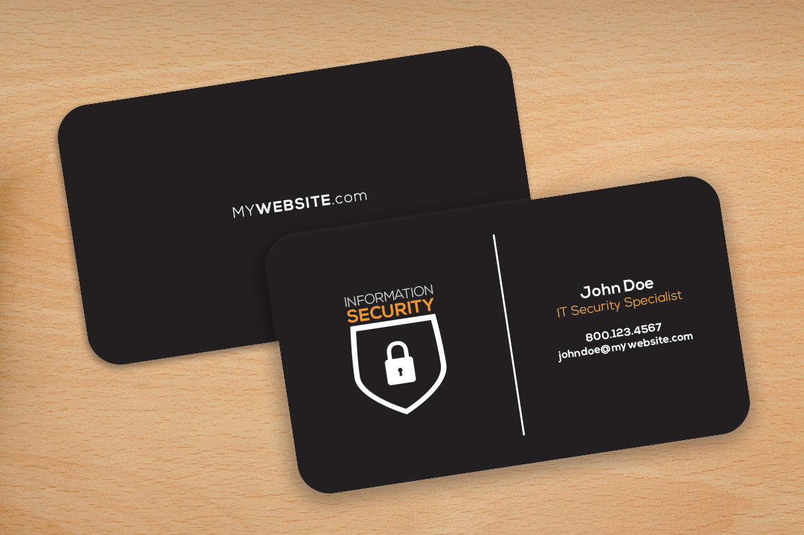 Dark Theme Rounded Corners Cards Business Card Templates