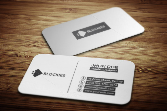 Rounded Rectangle Business Card Business Card