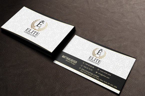 Gold And White Business Card - Business Cards - 1
