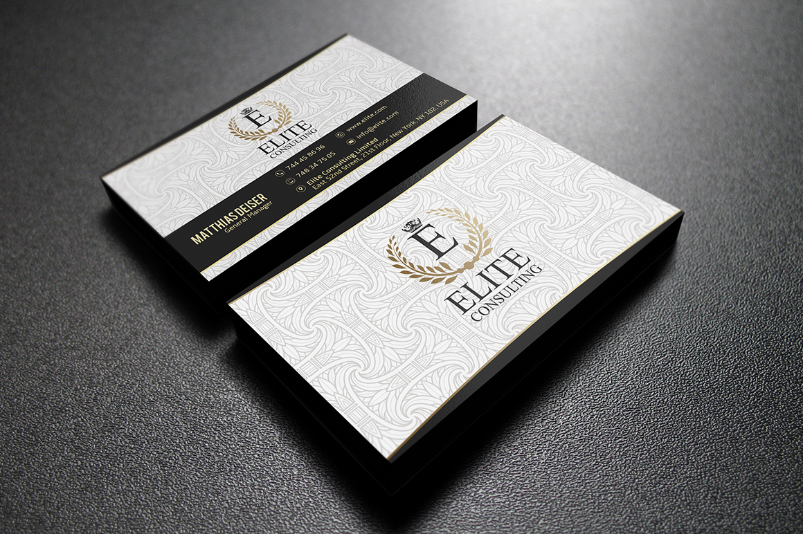 Gold And White Business Card ~ Business Card Templates on ...