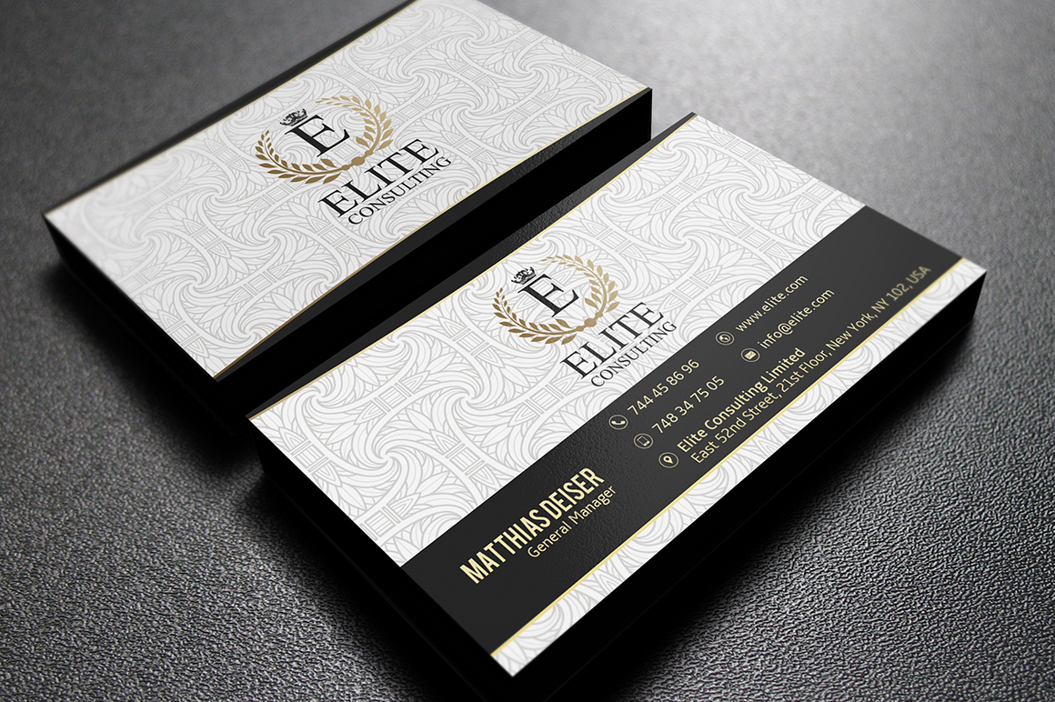 Gold And White Business Card Business Card Templates On
