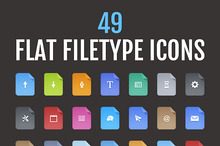 Flat Vector Filetype Icons