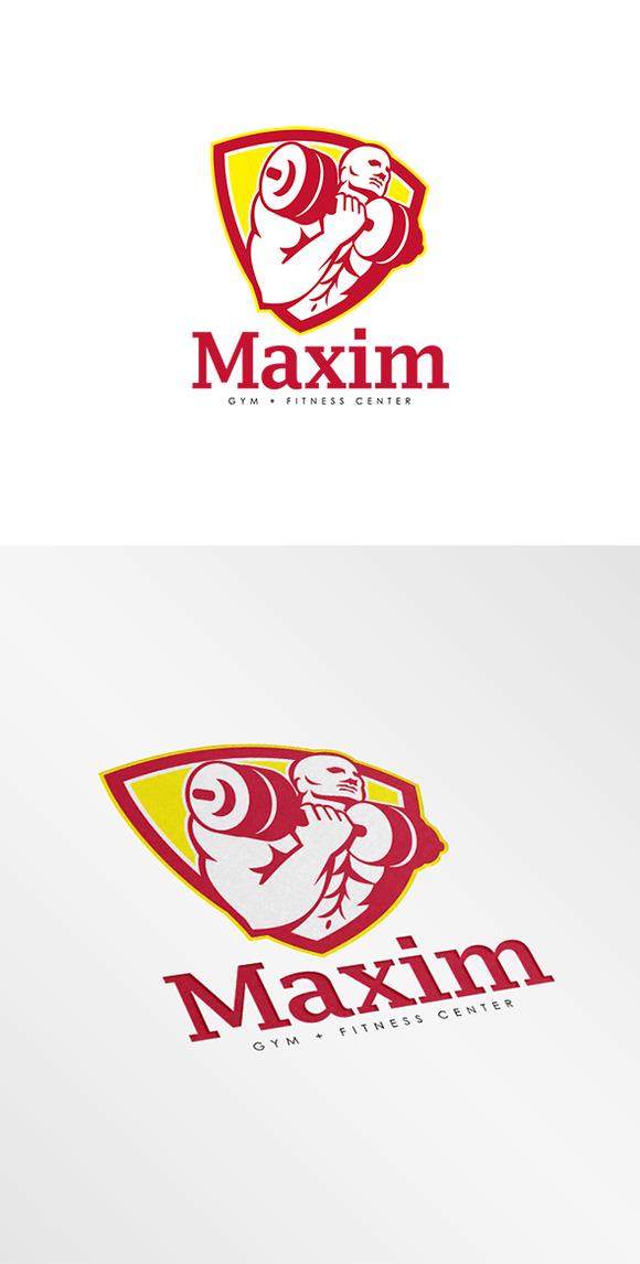 maxim gym fitness center logo