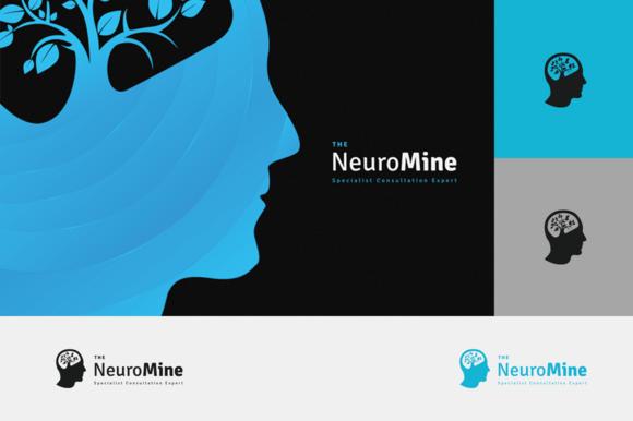 neurology mine logo logo templates on creative market