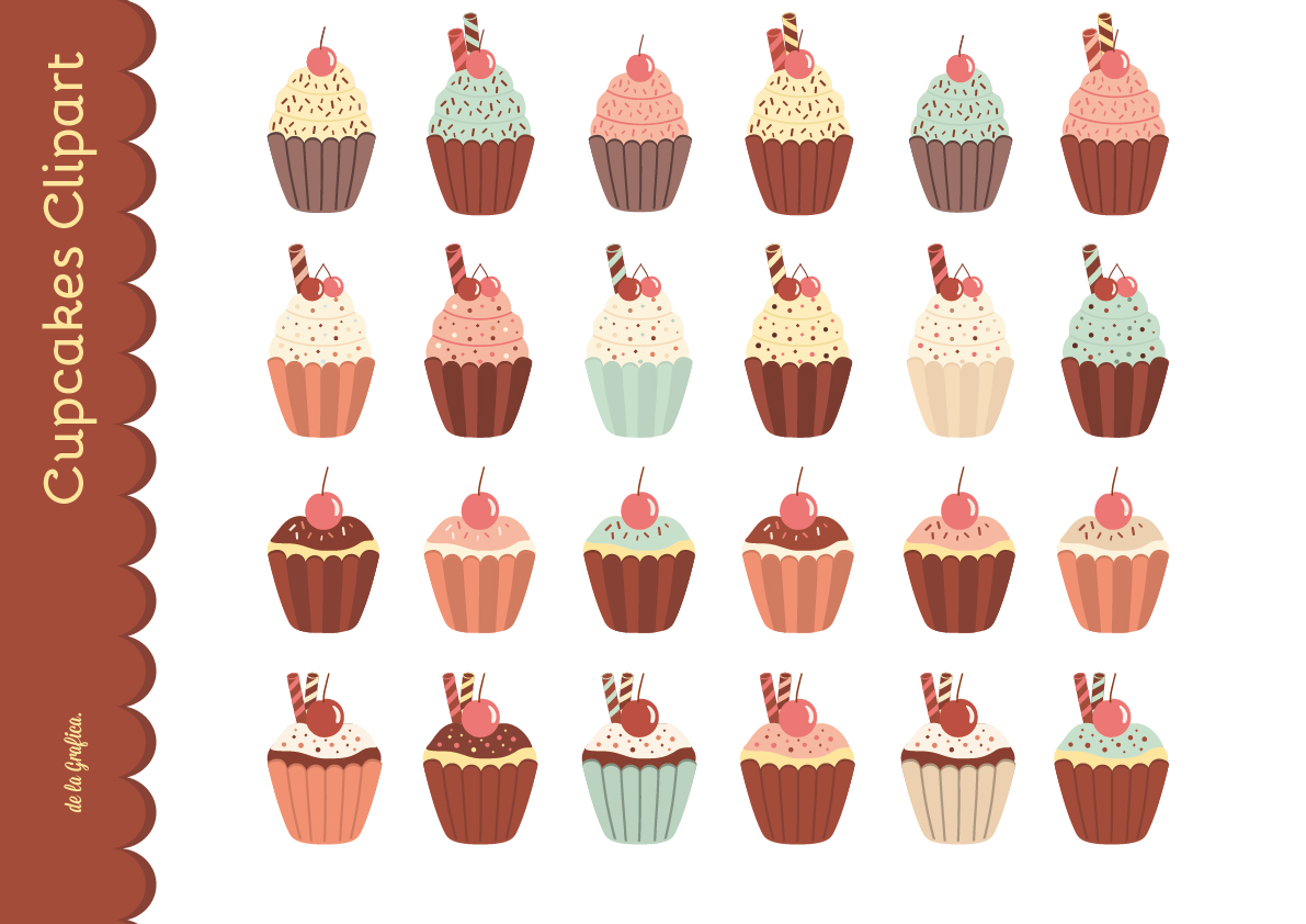 Cupcake Clipart no Background Cupcakes Clipart
