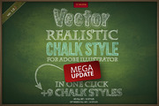 Chalk realistic vector AI s-Graphicriver中文最全的素材分享平台