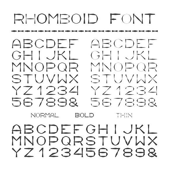 Rhombic Alphabet