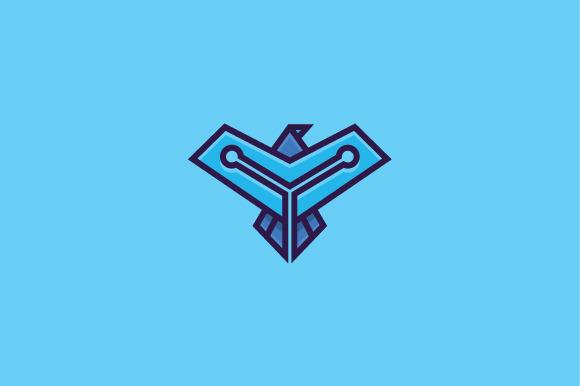 Flying Tech Eagle Bird Logo