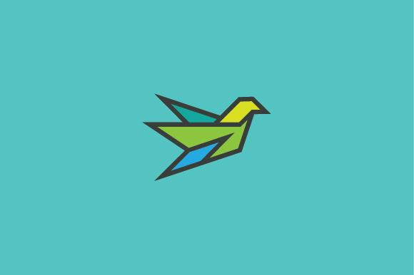 Geometric Flying Bird Logo
