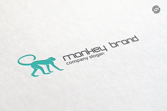 Monkey Brand Logo Template