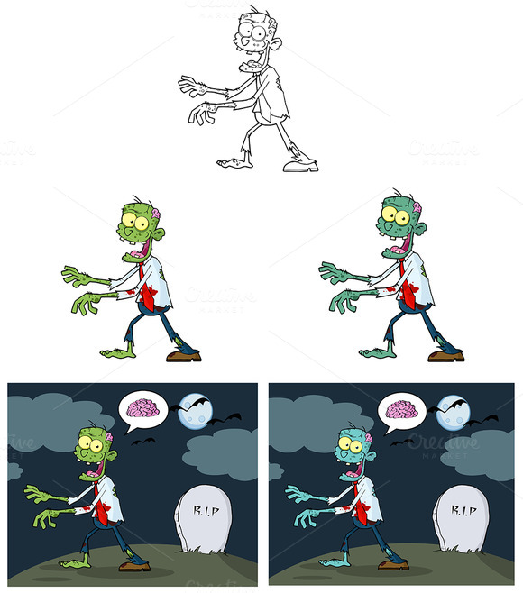 Zombie Characters Collection