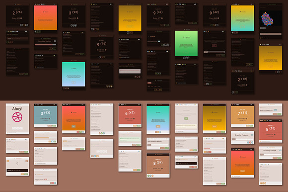 Copper 10 000 Card UI Kit