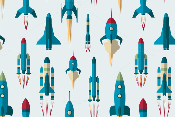 Set Of Rockets Pattern