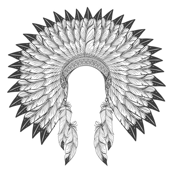 Native american indian headdress ~ Graphics on Creative Market