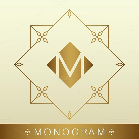 Simple And Graceful Monogram Design
