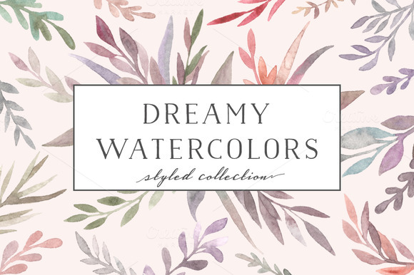 Watercolor flora. Dreamy collection - Illustrations