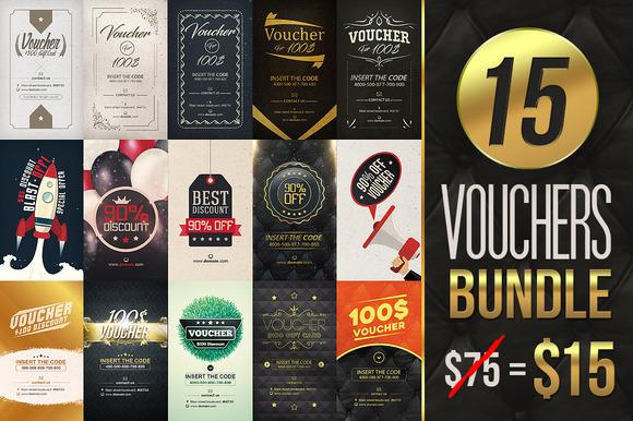 15 Vouchers Bundle [ 80% off ] - Cards