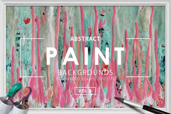 Abstract Paint Backgrounds Vol. 8 - Textures