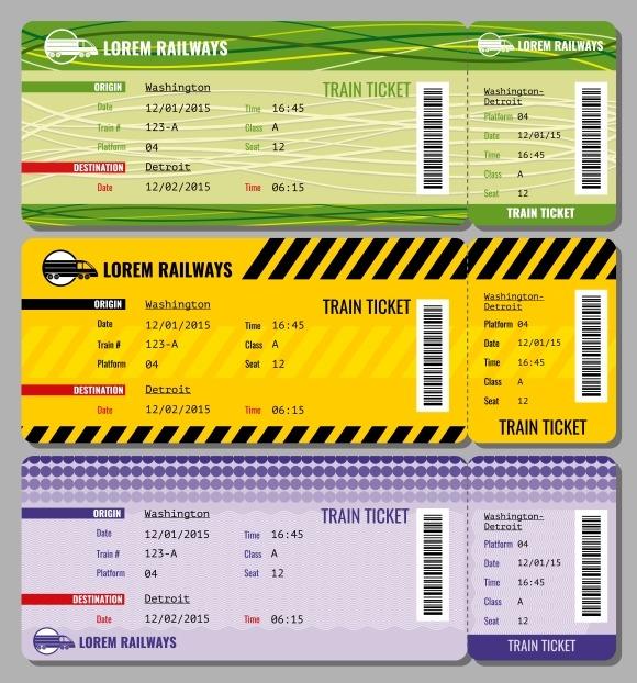 Train Vintage Travel Tickets