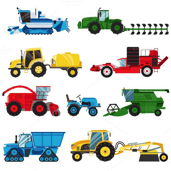 Vector Industrial Farm Equipment