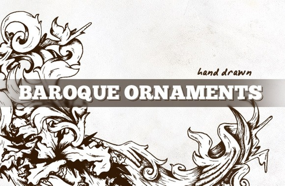 Hand Drawn Vector Baroque Elements