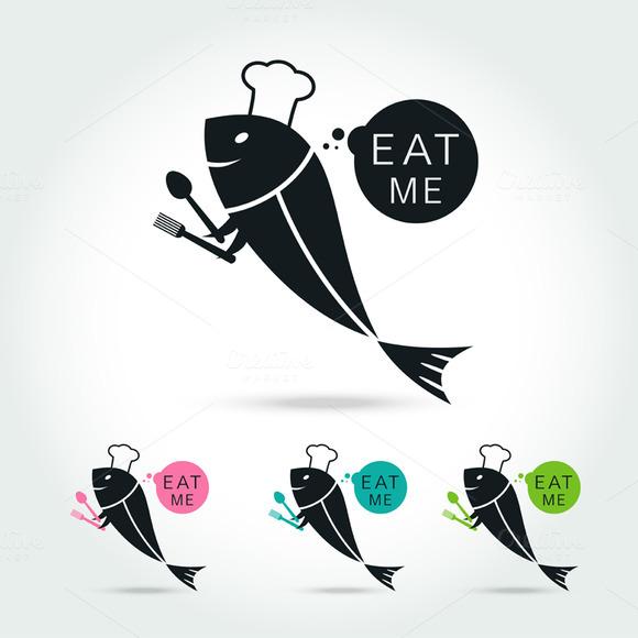 Chef Fish Logo Design Template