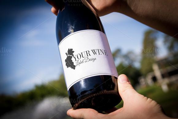 Wine Bottle Label 17