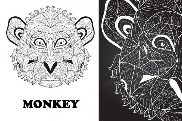 Hand Drawn Monkey
