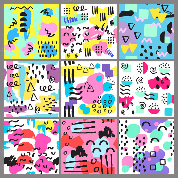 Different Vector Seamless Patterns