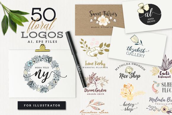 50 Floral Logos