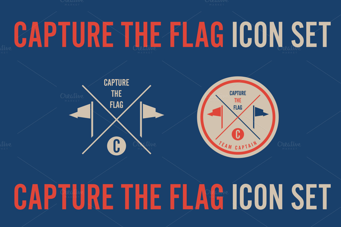 Capture the flag icon set illustrations on creative market for Capture the flag