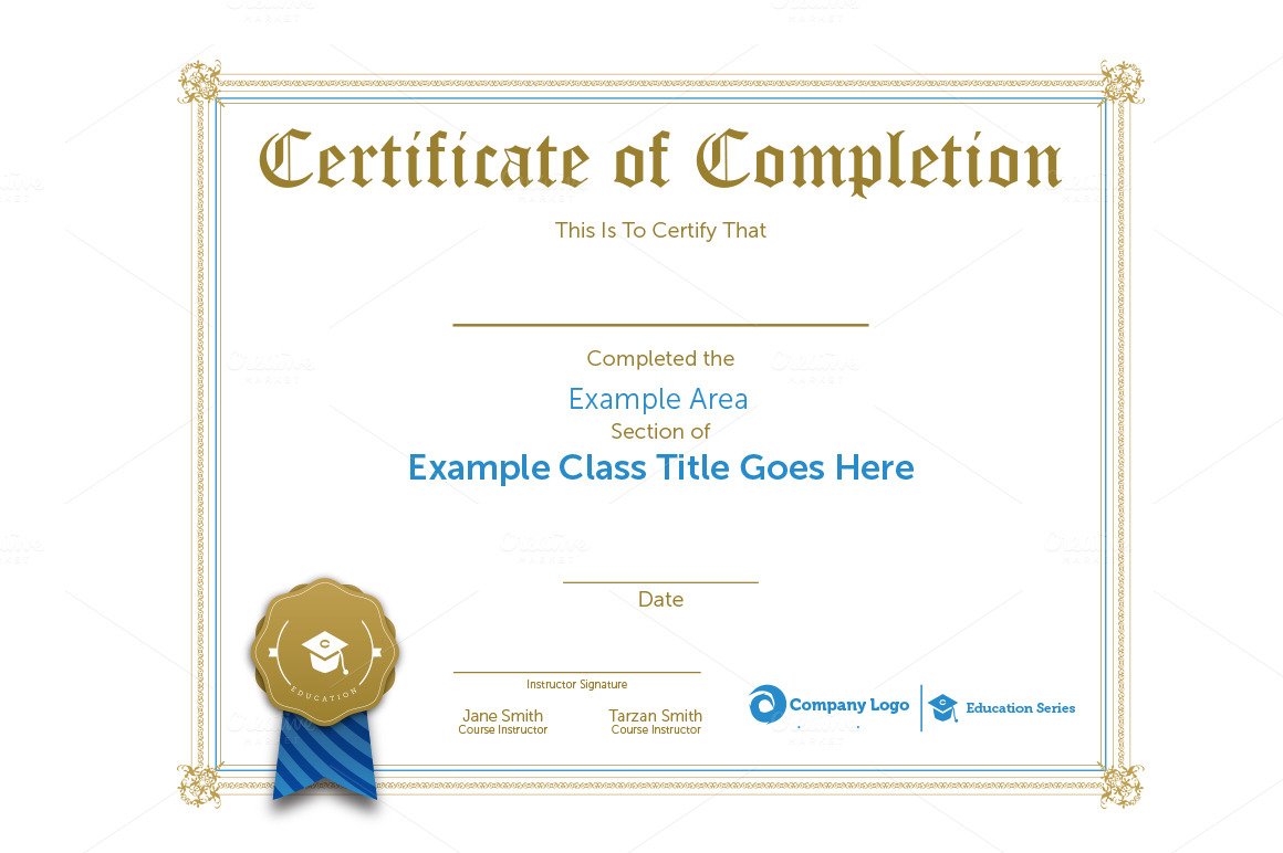 Class Certification Certificate ~ Stationery Templates on ...