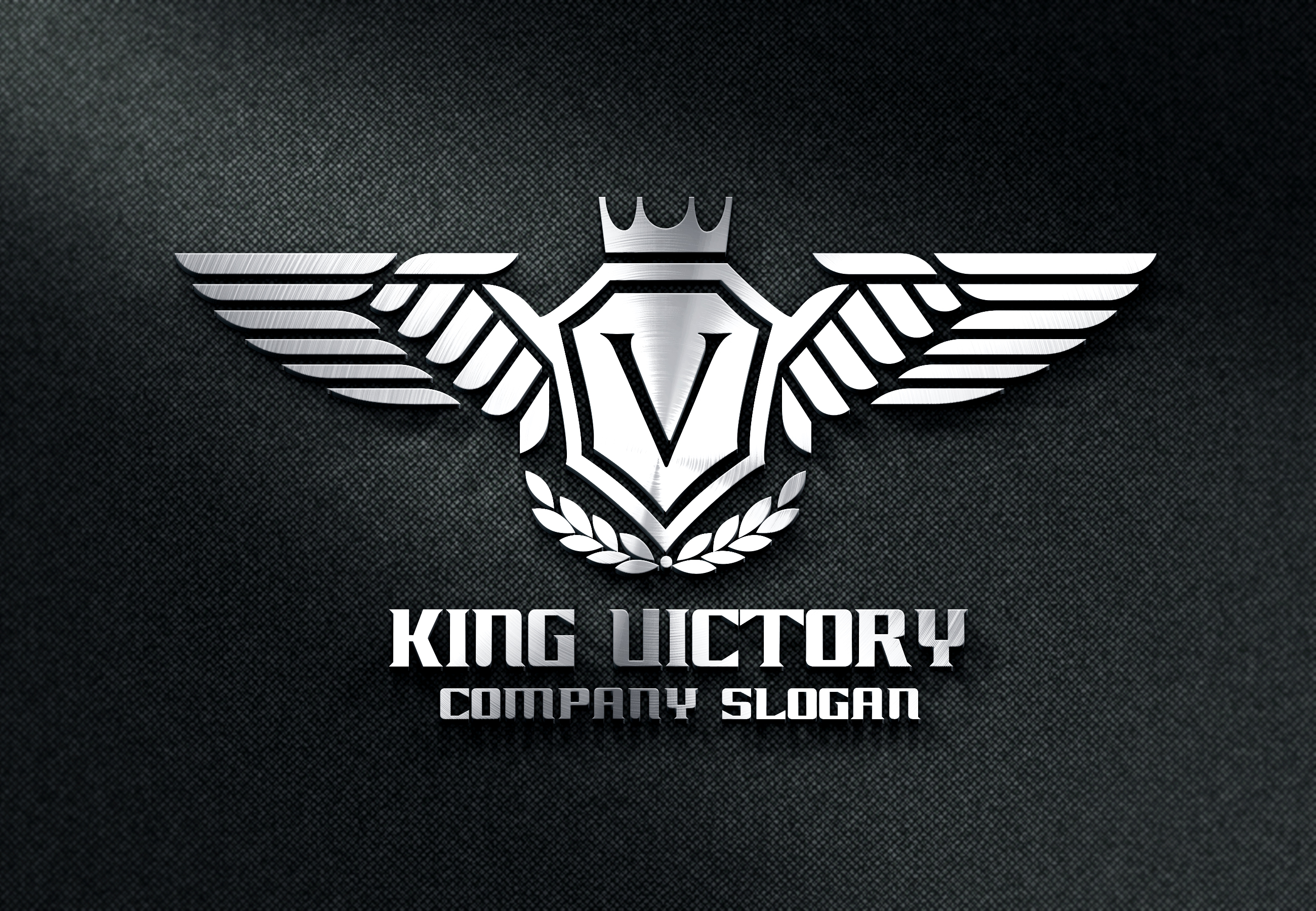 king victory logo templates on creative market. Black Bedroom Furniture Sets. Home Design Ideas