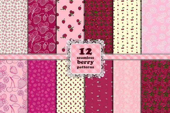 Berry set. 12 seamless patterns - Patterns