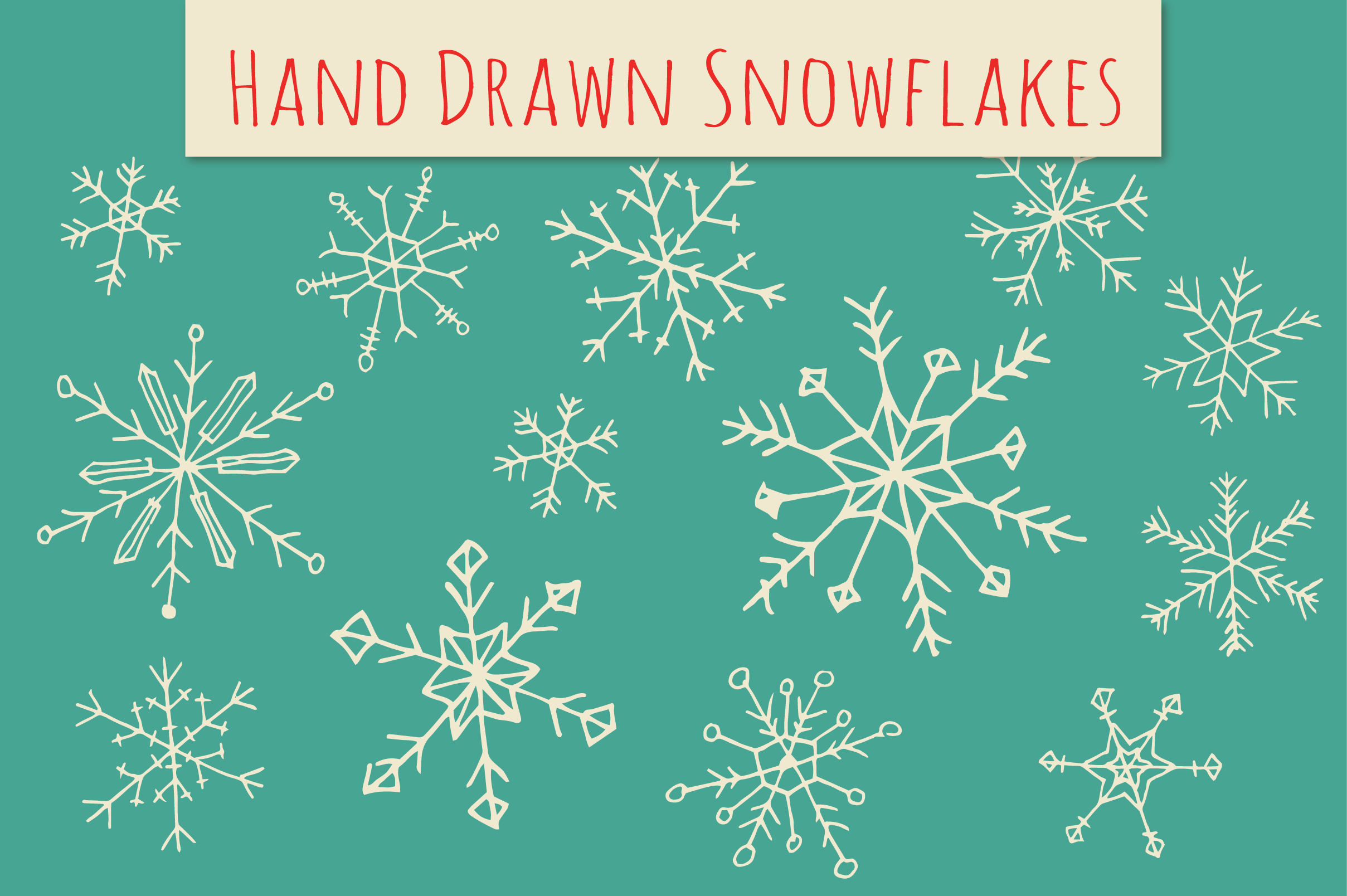 Holiday Snowflakes ClipArt ~ Illustrations on Creative Market