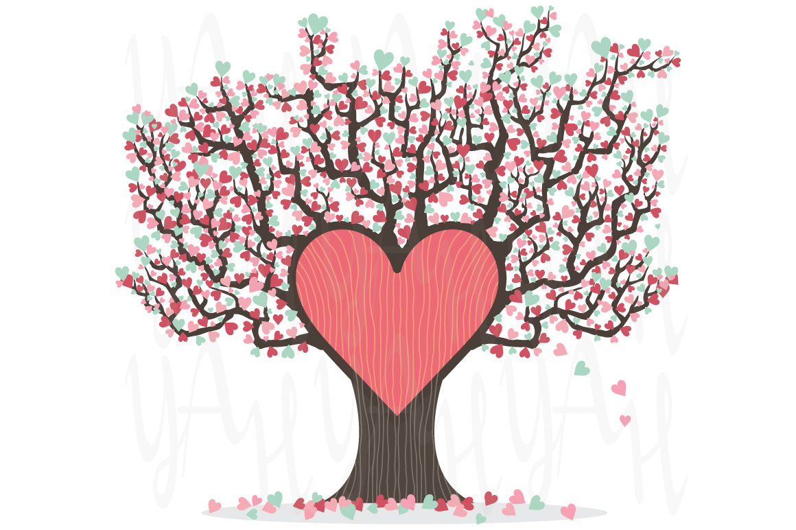 love tree wedding invitation