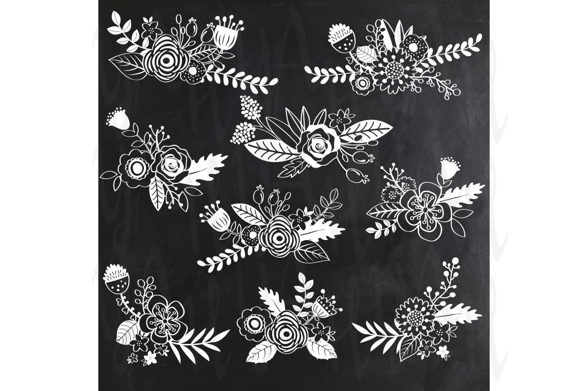 chalkboard wedding flower