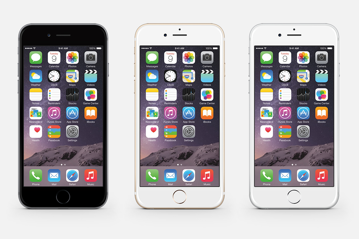 Iphone 6 psd mockup all in one product mockups on for Designing an iphone app
